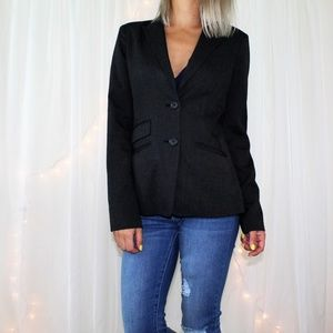 Banana Republic Heathered Charcoal Blazer